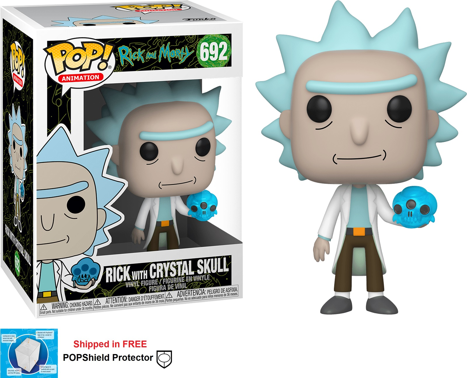 Funko POP Animation Rick and Morty Rick with Crystal Skull #692